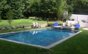 Gunite Pool with Spa and Scupper