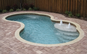 Fiberglass Pool with Deck Jets and Bubblers