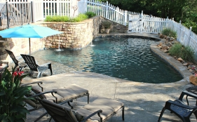 Gunite Pool with Cascades