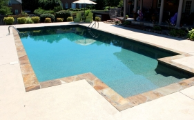 Gunite Pool with Entry