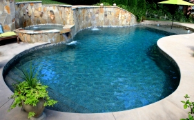 Gunite Pool with Spa & Cascades