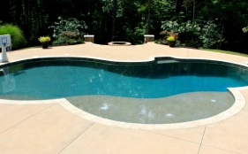 Gunite Pool with Diving Board & Tanning Ledge