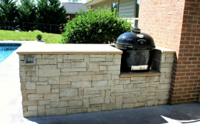 Outdoor Counter with Primo Grill