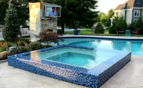 Gunite Pool & Spa with Fireplace