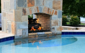 Gunite Pool with Fireplace