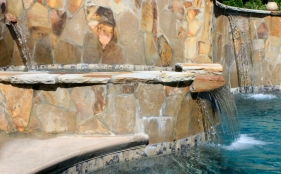 Gunite Pool with Spa, Scuppers, & Sheer Descents