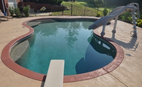 Freeform Pool with Slide and Diving Board