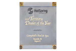 Hot Spring Spas <br/> Dealer Award 2006