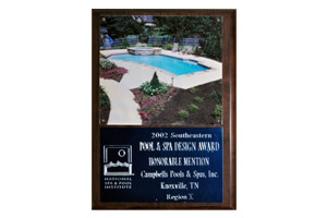 Pool And Spa Design Awards <br/> Honorable Mention - 2002