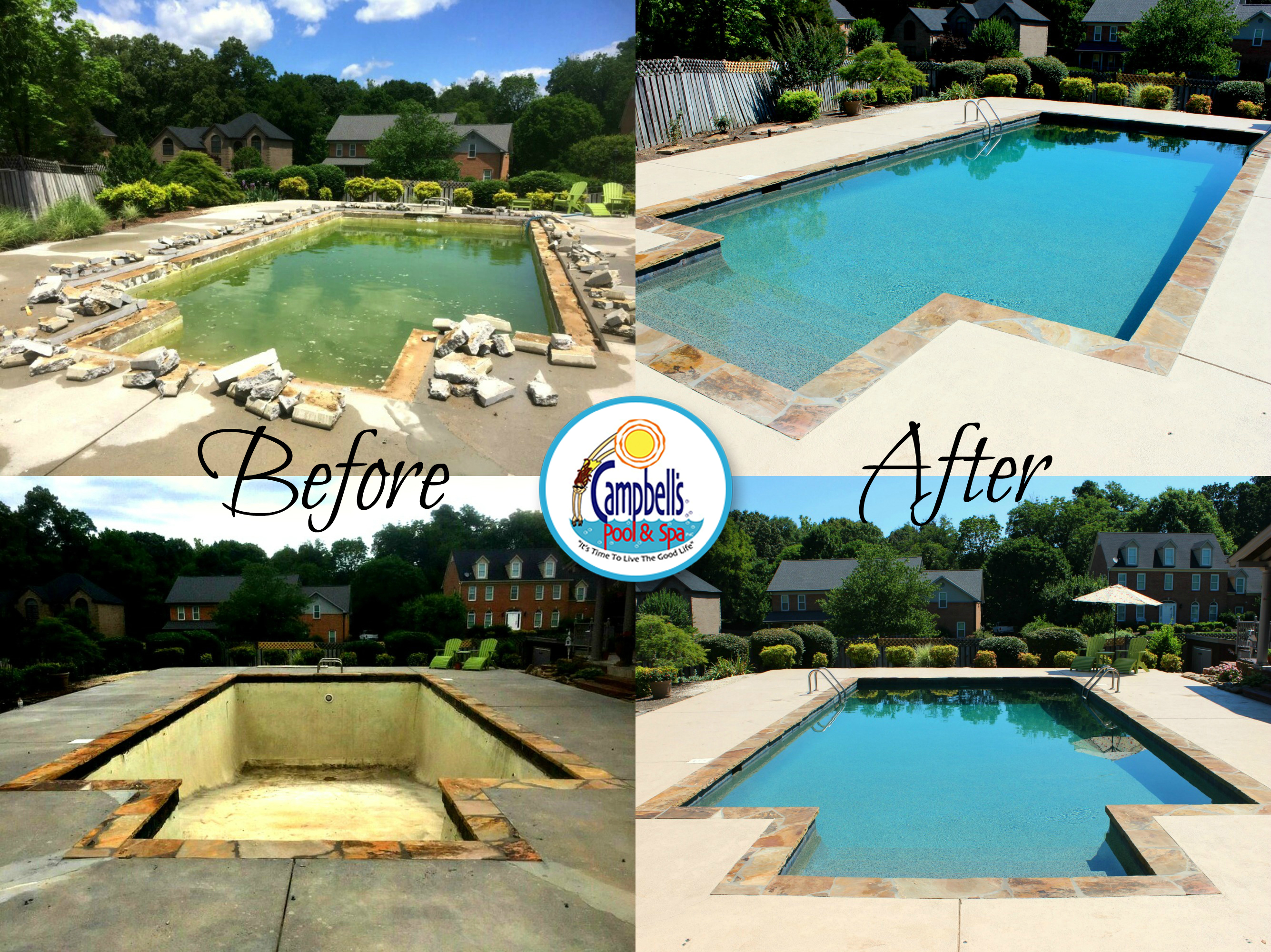 Knoxville pool renovation lenoir city remodel for Pool redesign